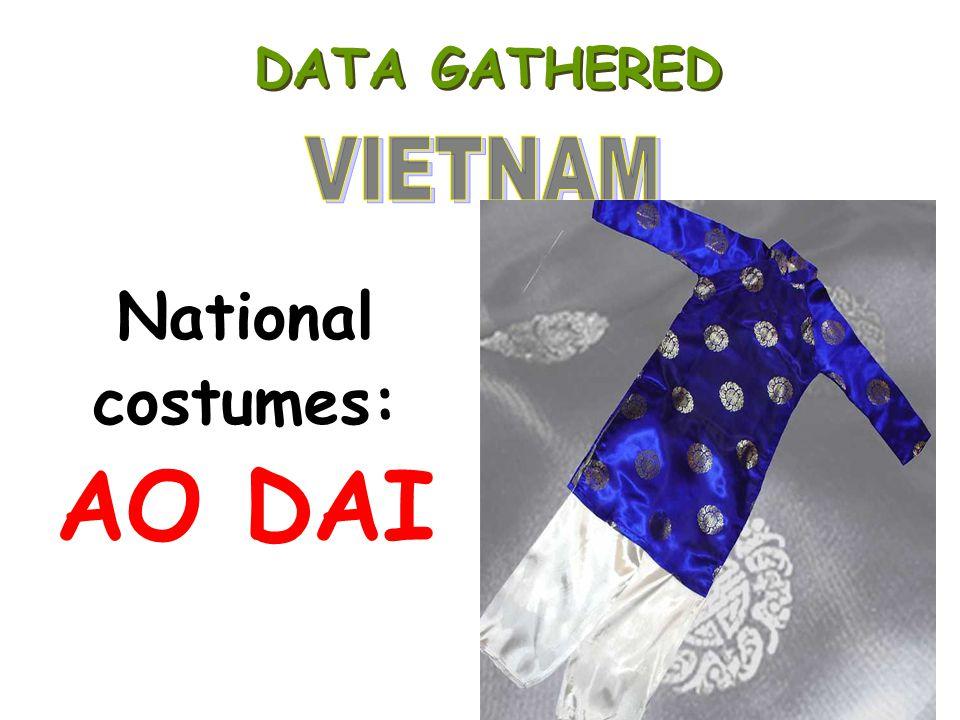 DATA GATHERED National costumes: AO DAI