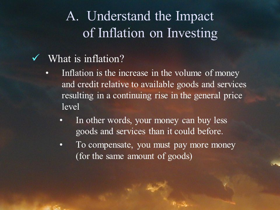 A.Understand the Impact of Inflation on Investing What is inflation.