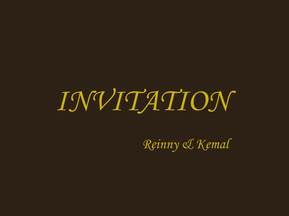 INVITATION Reinny & Kemal