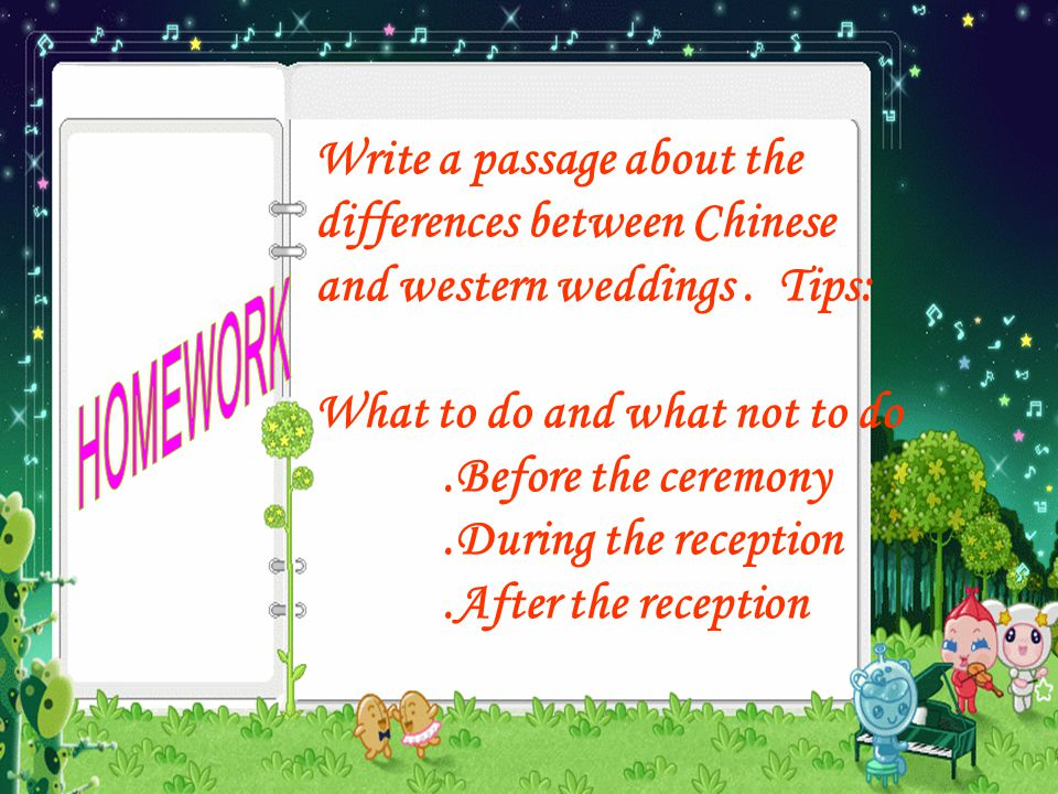 Write a passage about the differences between Chinese and western weddings.
