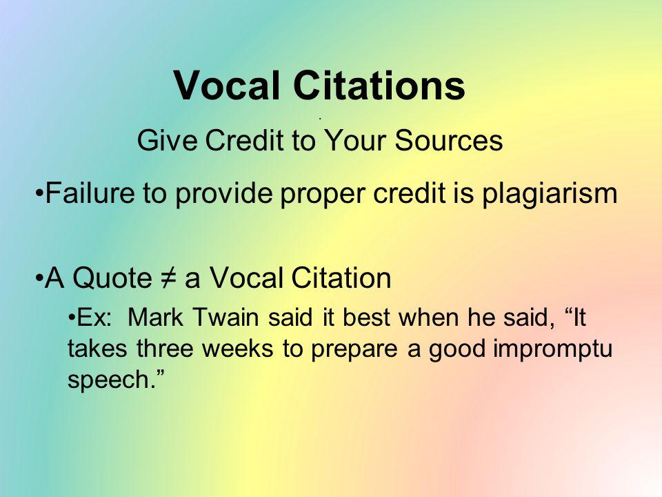 Vocal Citations.