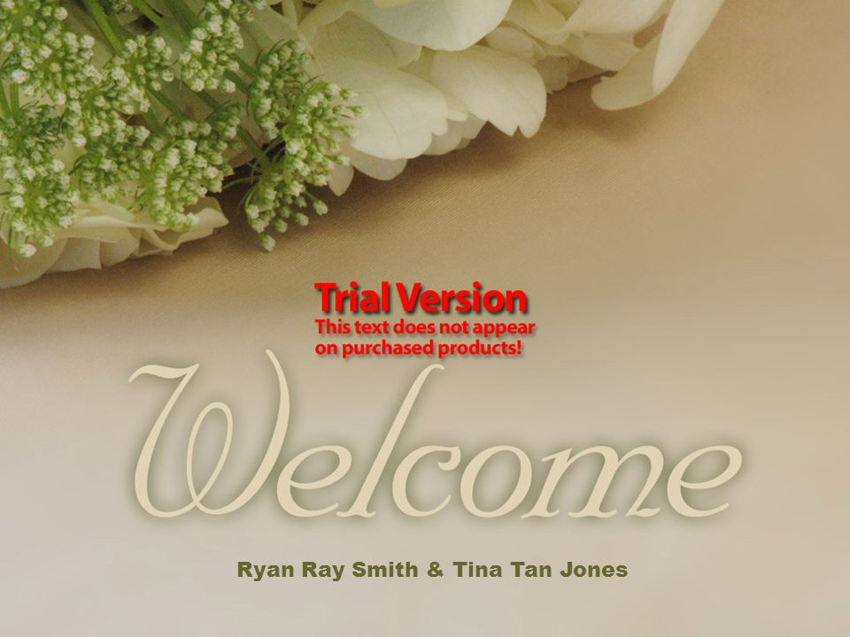 Welcome Message Ryan Ray Smith & Tina Tan Jones