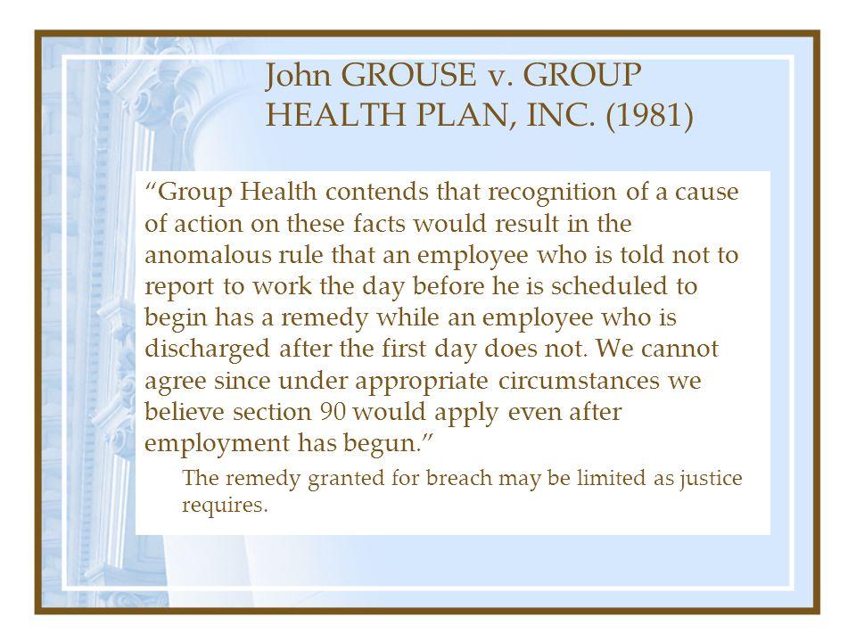 John GROUSE v.GROUP HEALTH PLAN, INC.