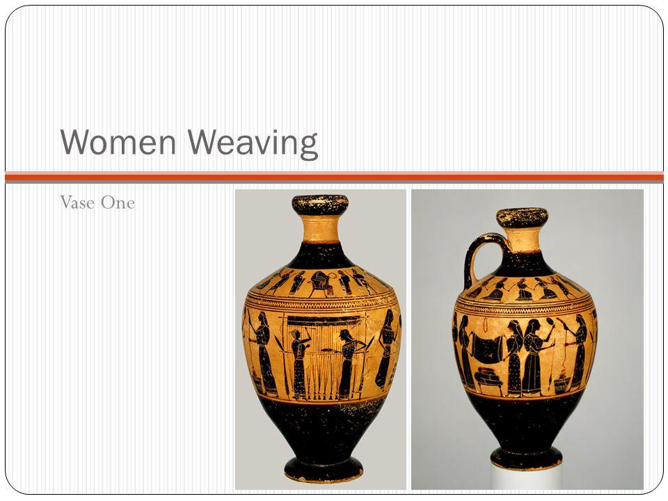 Women Weaving Vase One