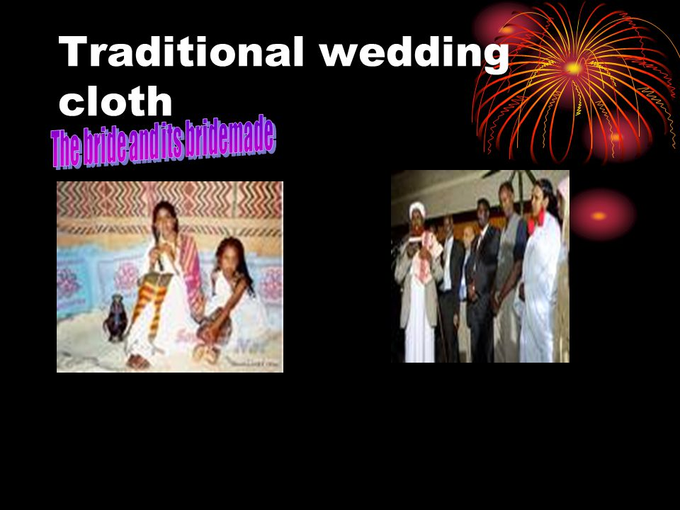Traditional wedding cloth