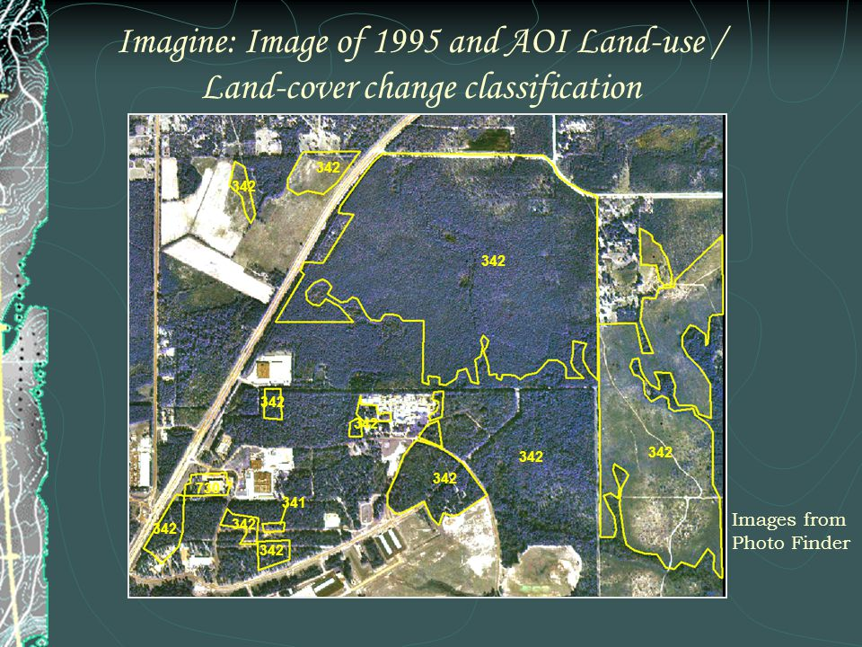 Imagine: Image of 1995 and AOI Land-use / Land-cover change classification Images from Photo Finder