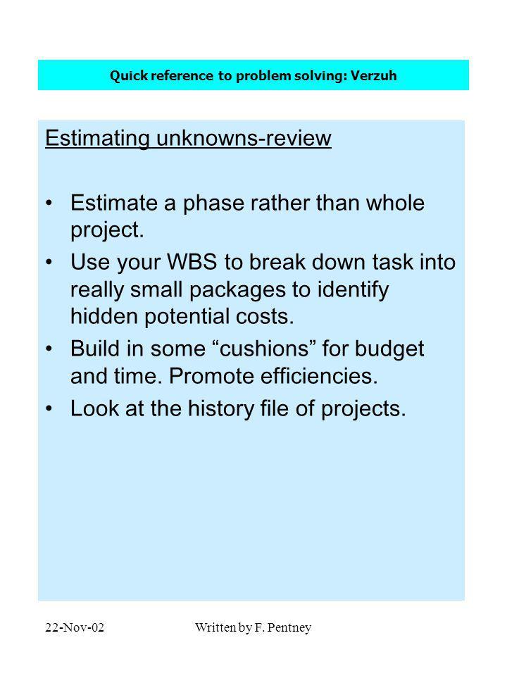 22-Nov-02Written by F.Pentney Marking scheme for rest of term On line Quiz format.