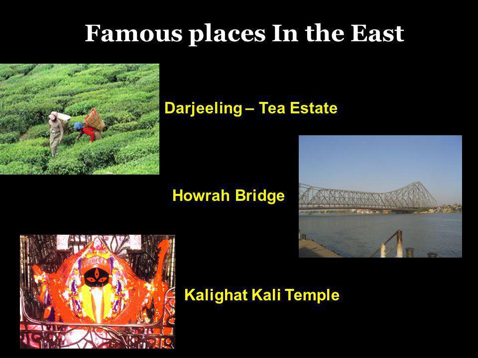 Darjeeling – Tea Estate Howrah Bridge Famous places In the East Kalighat Kali Temple