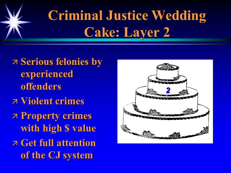 ä Serious felonies by experienced offenders ä Violent crimes ä Property crimes with high $ value ä Get full attention of the CJ system 2 Criminal Just