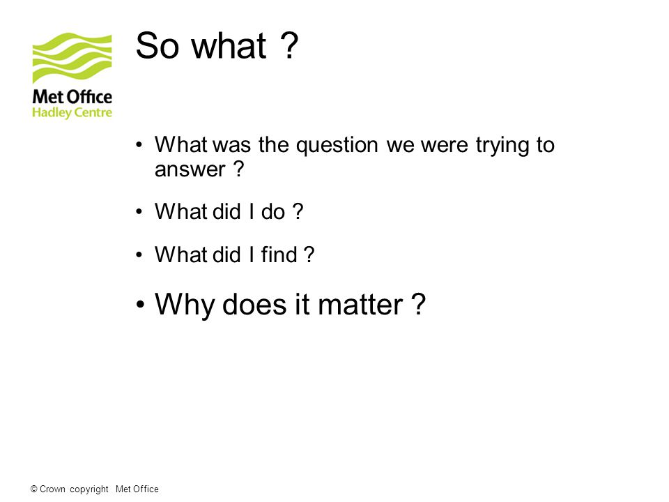 So what . What was the question we were trying to answer .
