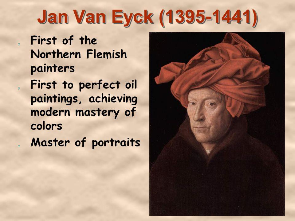 The Arnolfini Portrait by Van Eyck, oil on oak, National Gallery in London, 1434