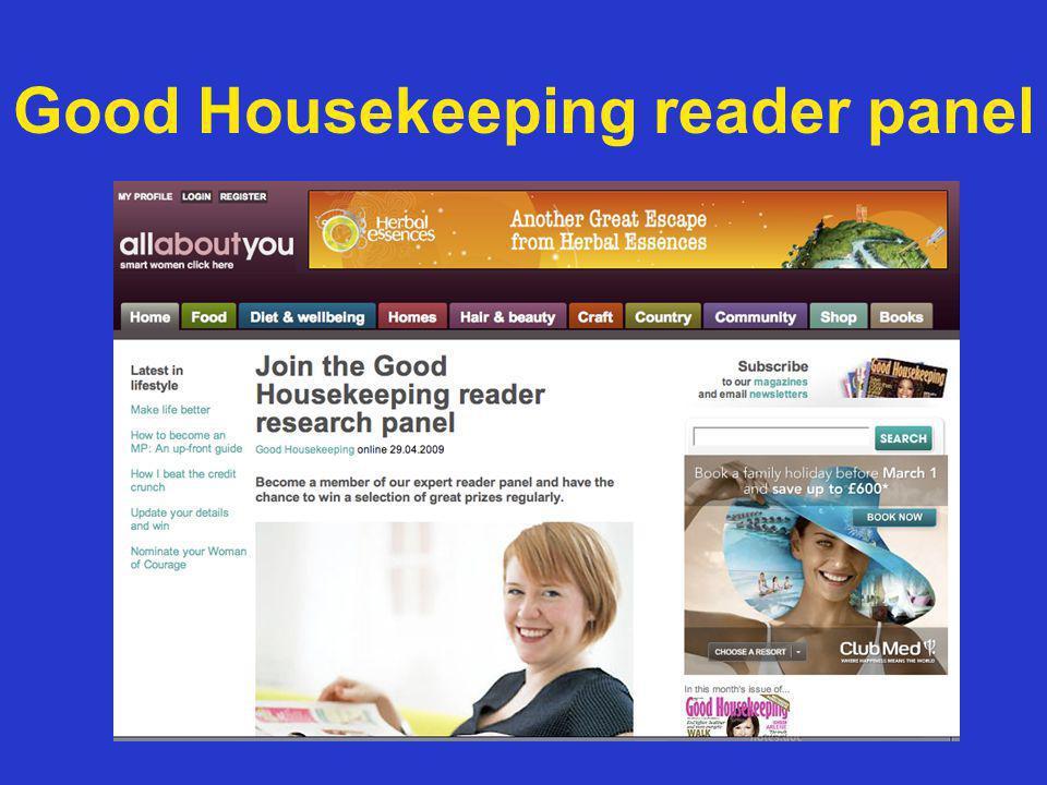 Good Housekeeping reader panel