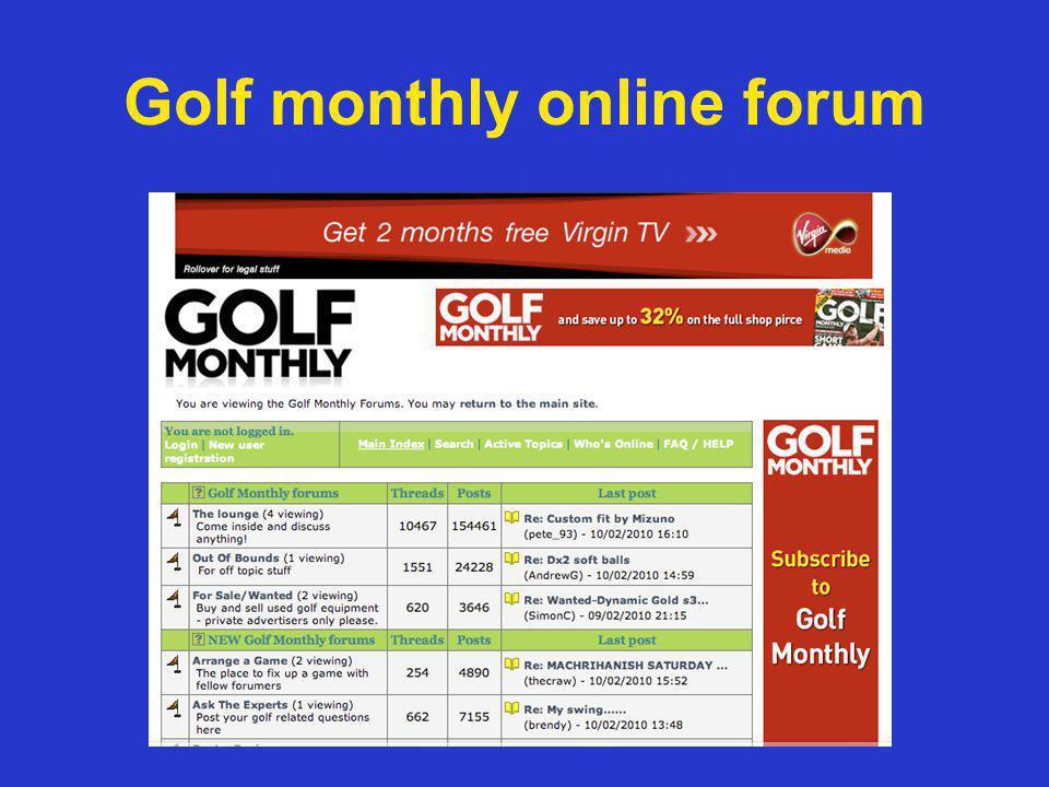 Golf monthly online forum