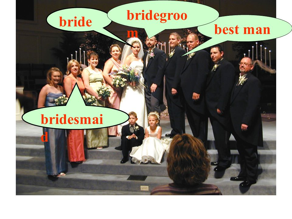 bride best man bridegroo m bridesmai d