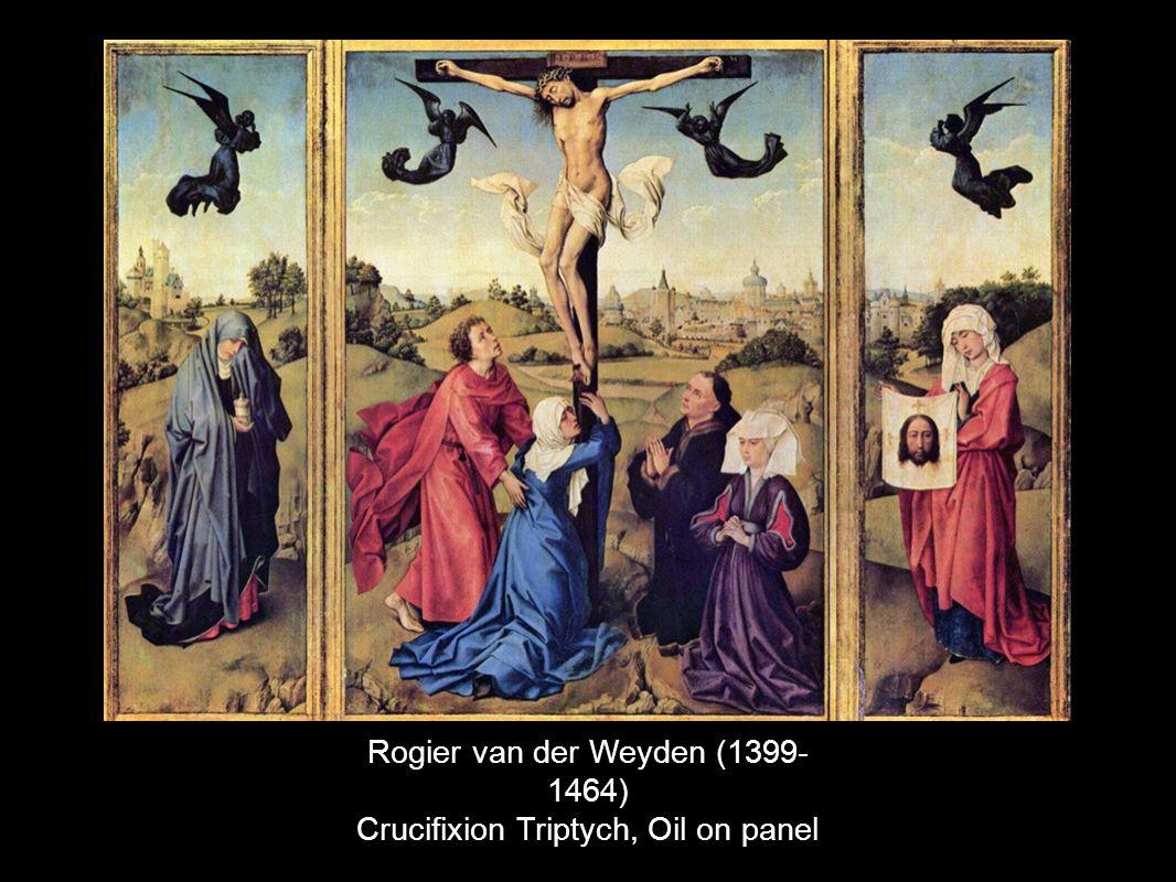 Rogier van der Weyden (1399- 1464) Crucifixion Triptych, Oil on panel