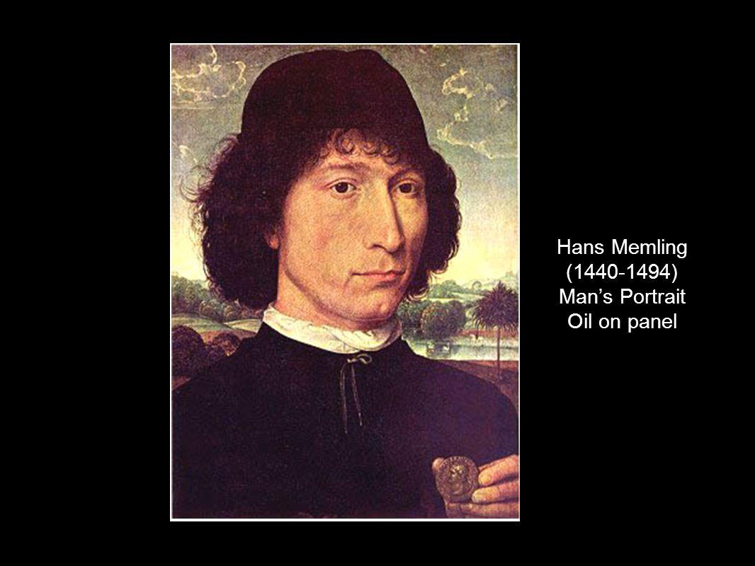 Hans Memling (1440-1494) Mans Portrait Oil on panel
