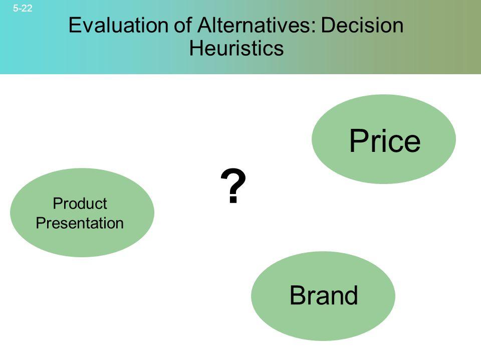 5-22 © 2007 McGraw-Hill Companies, Inc., McGraw-Hill/Irwin Evaluation of Alternatives: Decision Heuristics .