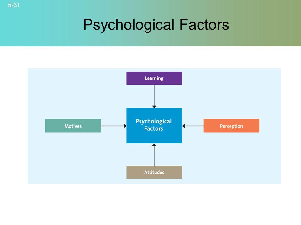5-31 © 2007 McGraw-Hill Companies, Inc., McGraw-Hill/Irwin Psychological Factors
