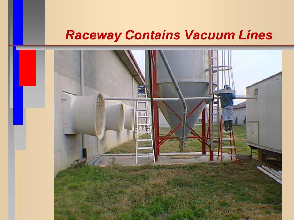 Raceway Contains Vacuum Lines