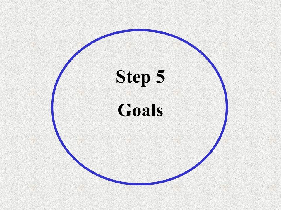 Step 5 Goals
