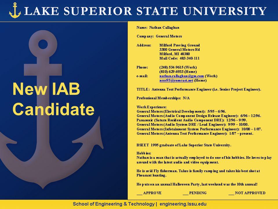 New IAB Candidate