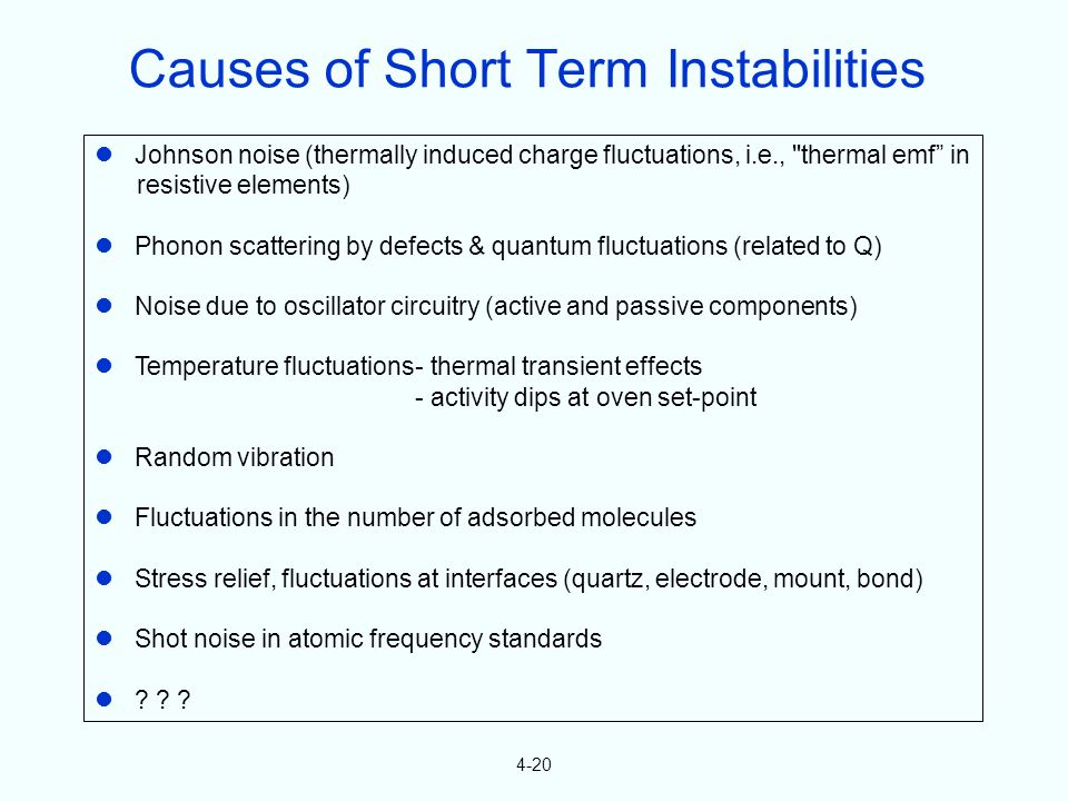 4-20 Johnson noise (thermally induced charge fluctuations, i.e.,