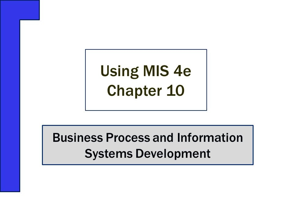 Business Process and Information Systems Development Using MIS 4e Chapter 10