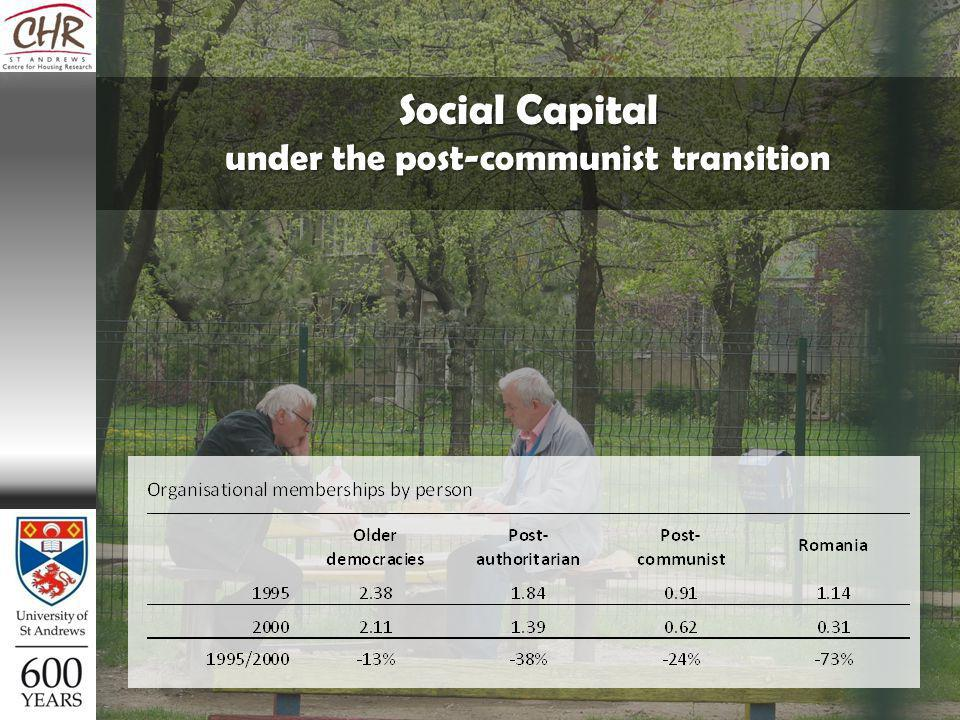 Social Capital under the post-communist transition