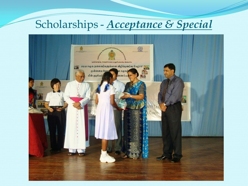 Scholarships - Acceptance & Special