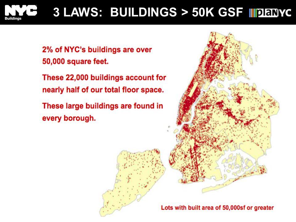 3 LAWS: BUILDINGS > 50K GSF