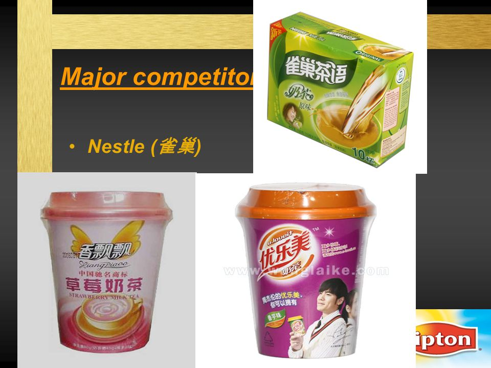Sales promotion 1 Time: January, February, March of 2012 Scene: hypermarkets, supermarkets, convenience stores Activities: 1.Points – of – sales displays 2.Sampling -- temporary counters & salesgirls 3.Premium – 4 units + a well-designed cup / teaspoon Exotic styles French British Japanese Taiwan