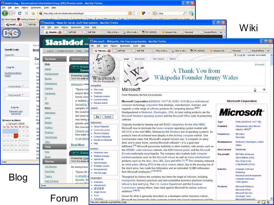 Blog Forum Wiki