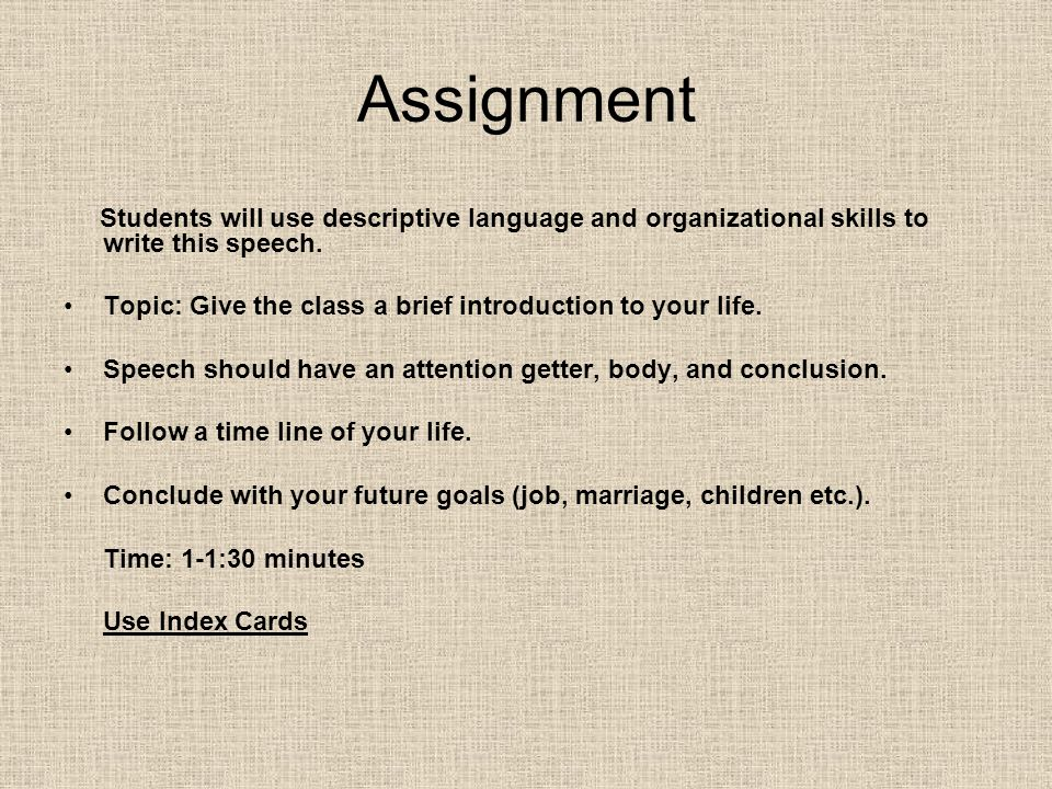 How to write an assignment introduction