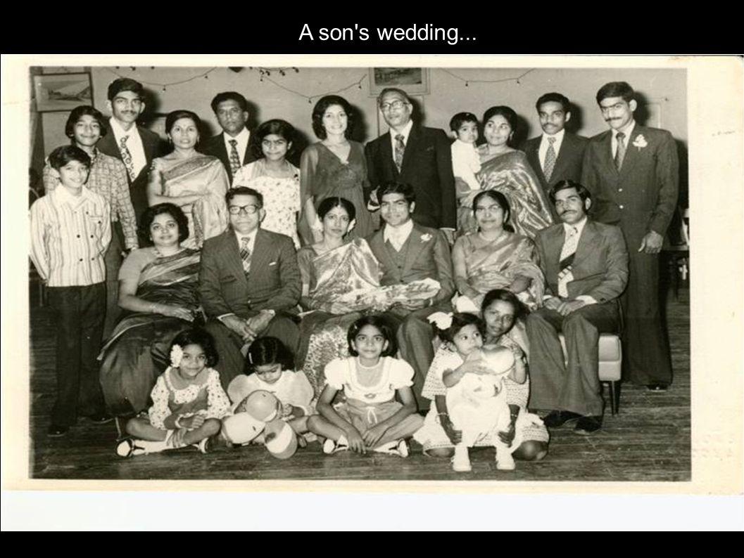 A son's wedding...