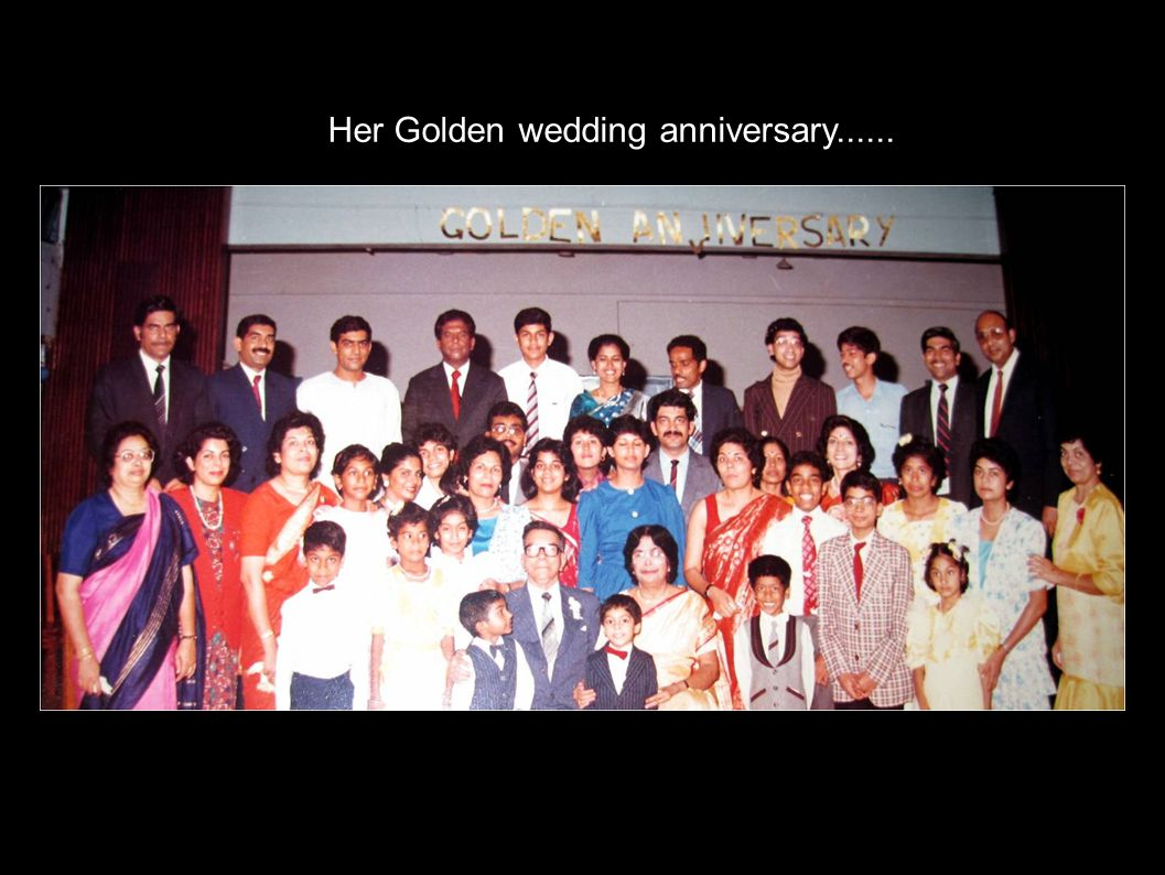 Her Golden wedding anniversary......