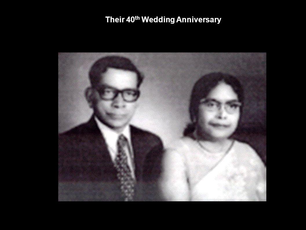 Their 40 th Wedding Anniversary