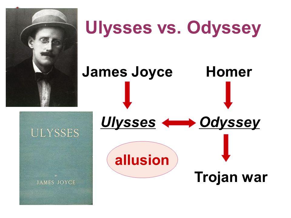 Ulysses vs. Odyssey Homer Odyssey Trojan war Ulysses James Joyce allusion