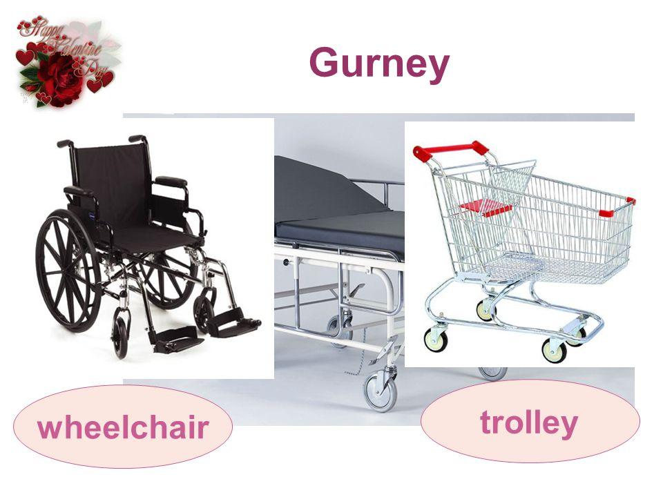 Gurney wheelchair trolley
