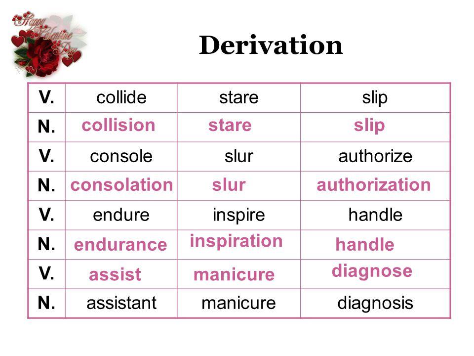 Derivation V.collidestareslip N. V.consoleslurauthorize N. V.endureinspirehandle N. V. N.assistantmanicurediagnosis collisionstareslip consolationslur
