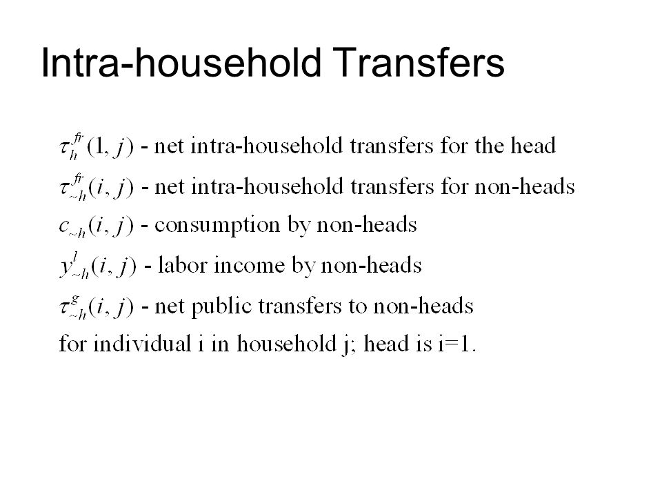 Intra-household Transfers