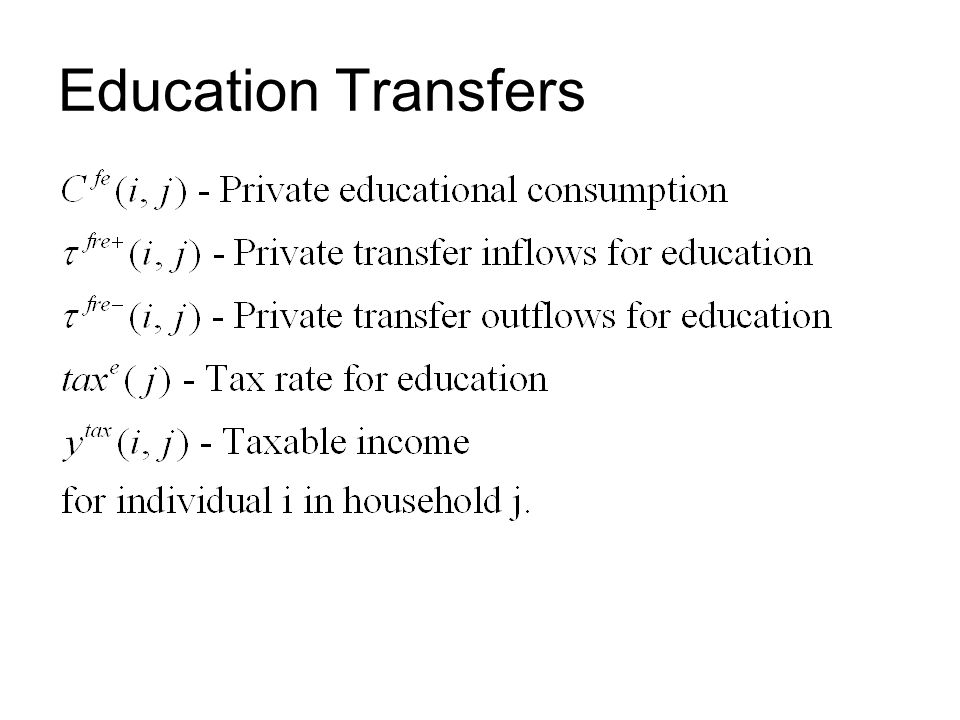 Education Transfers