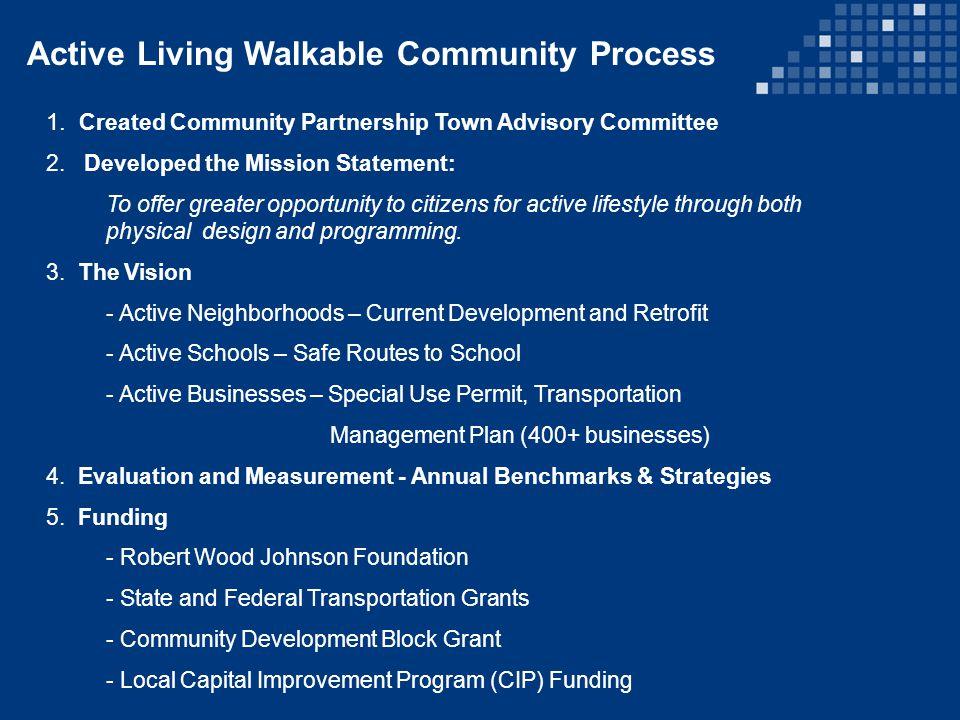 Active Neighborhoods Gardening Clubs Pedestrian Friendly Development Mobility Assessments