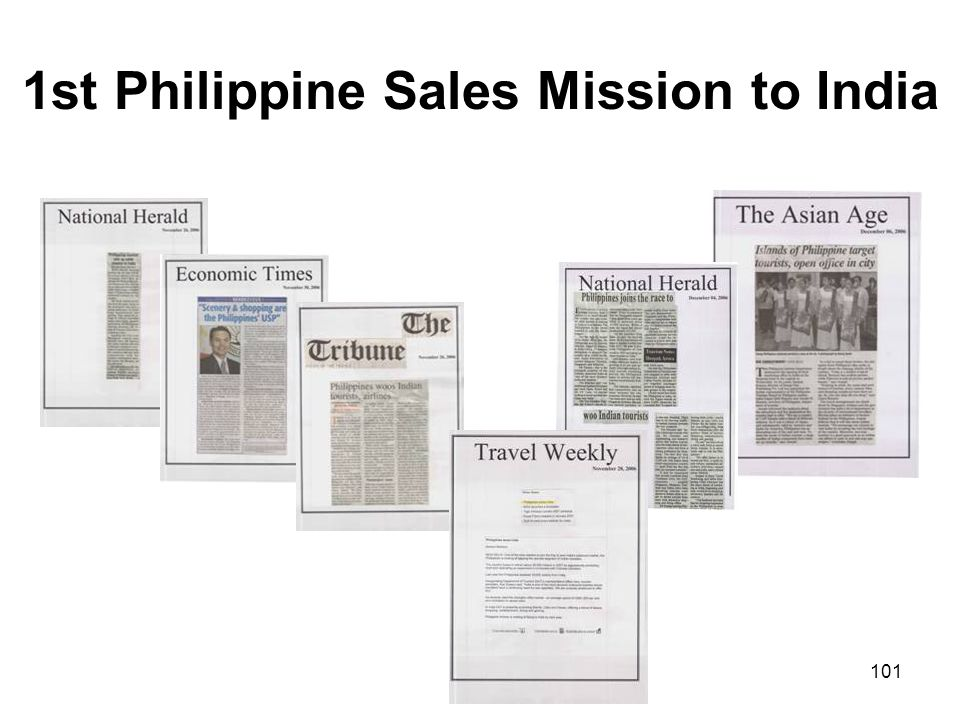 101 1st Philippine Sales Mission to India