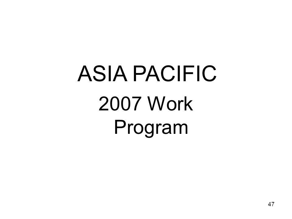 47 ASIA PACIFIC 2007 Work Program