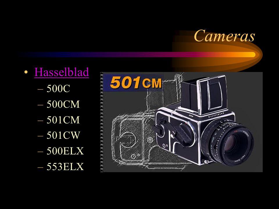 Cameras Hasselblad –500C –500CM –501CM –501CW –500ELX –553ELX
