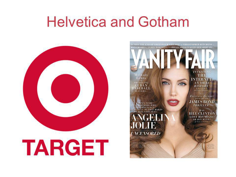 Helvetica and Gotham