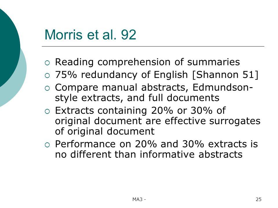 MA3 -25 Morris et al.