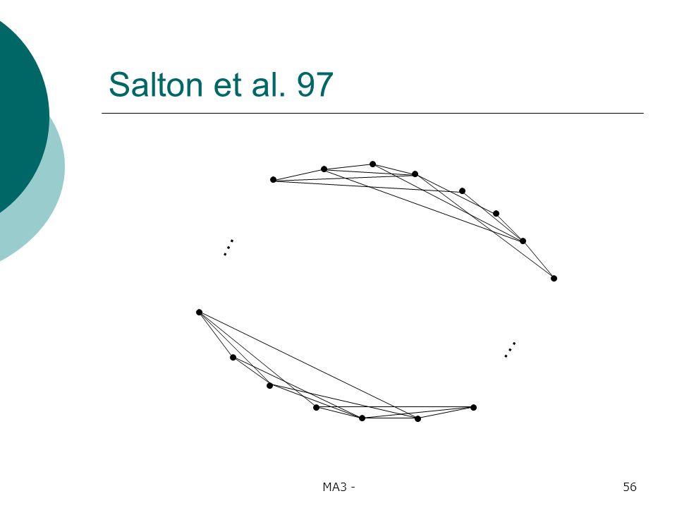 MA3 -56 Salton et al. 97 … …