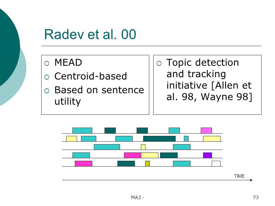 MA3 -73 Radev et al.