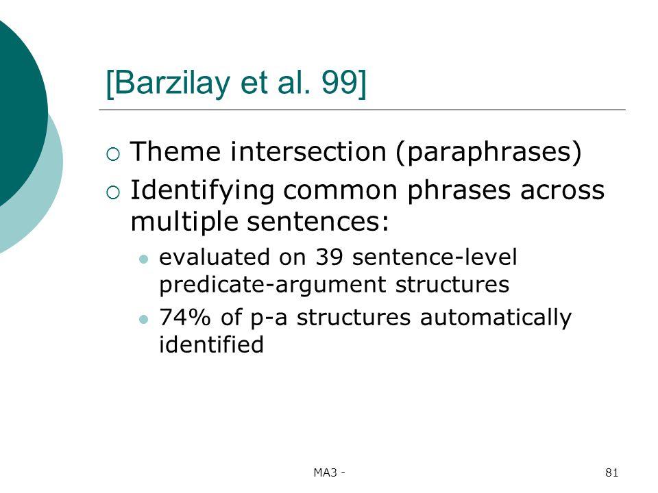 MA3 -81 [Barzilay et al.
